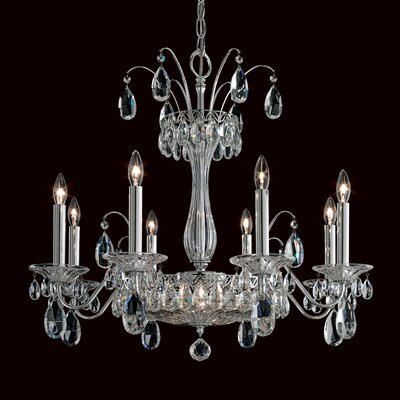 Fontana Luce 8-Light Candle-Style Chandelier Finish: French Gold