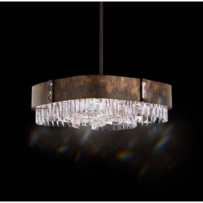 Zeppa 6-Light Kitchen Island Pendant Finish: Heirloom Bronze, Crystal: Swarovski Clear Crystal