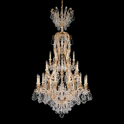 Versailles 25-Light Crystal Chandelier Base Finish: Etruscan Gold