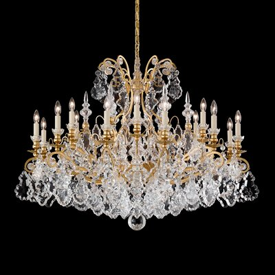 Versailles 18-Light Crystal Chandelier Finish: Antique Silver
