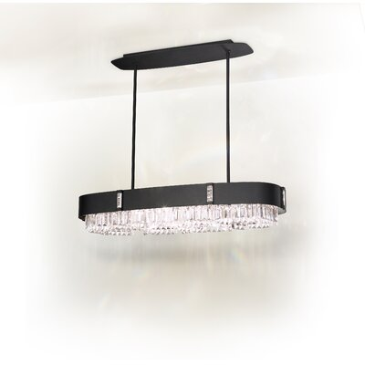 Zeppa 10-Light Kitchen Island Pendant Finish: Ferro Black, Crystal: Swarovski Clear Crystal