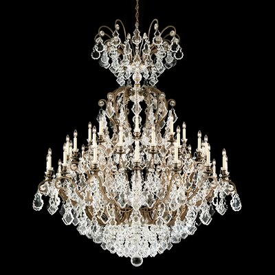 Versailles 40-Light Crystal Chandelier Finish: Antique Silver
