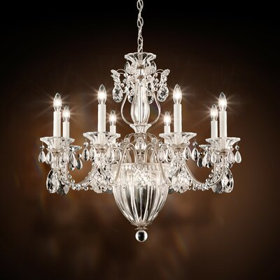 Bagatelle 8-Light Candle-Style Chandelier Finish: Antique Silver, Crystal: Swarovski Clear Crystal