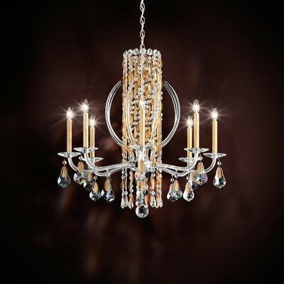 Sarella 8-Light Candle-Style Chandelier Finish: Heirloom Gold, Crystal: Heritage Clear Crystal