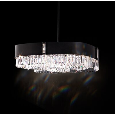 Zeppa 8-Light Kitchen Island Pendant Finish: Ferro Black