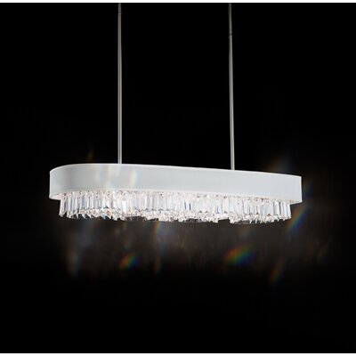 Zeppa 10-Light Kitchen Island Pendant Shade Color: Silver