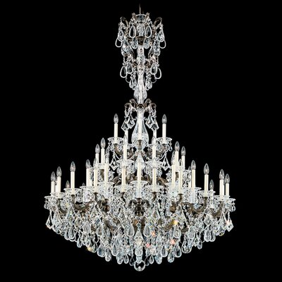 La Scala 45-Light Candle-Style Chandelier Finish: Midnight Gild