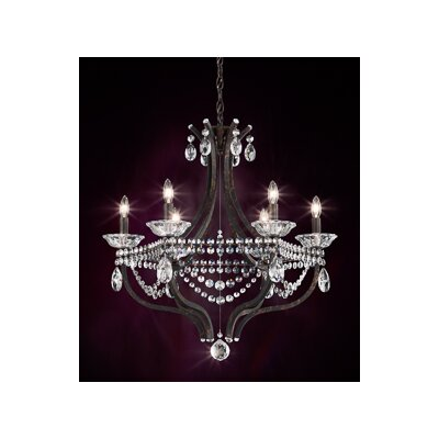 Valterri 6-Light Candle-Style Chandelier Finish: Ferro Black, Crystal Type: Crystal Spectra