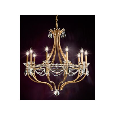 Valterri 10-Light Candle-Style Chandelier Finish: Antique Silver, Crystal Type: Crystal Spectra