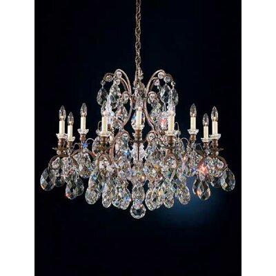 Renaissance 12-Light Crystal Chandelier Finish / Crystal Color: Black / Handcut Clear
