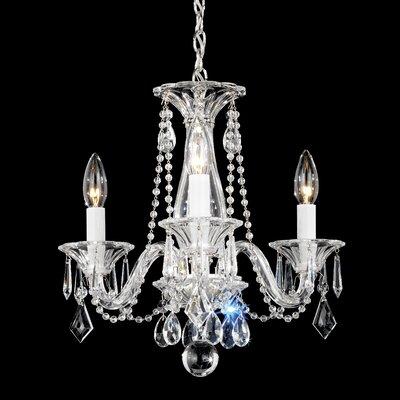 Allegro 3-Light Crystal Chandelier Crystal Color: Clear