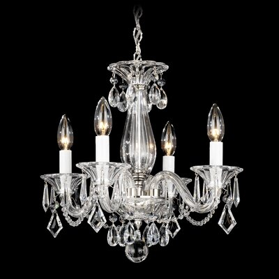 Allegro 4-Light Mini Chandelier Crystal Color: Clear