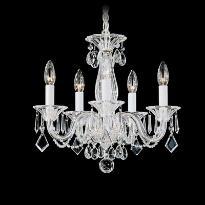 Allegro 5-Light Crystal Chandelier Crystal Color: Clear