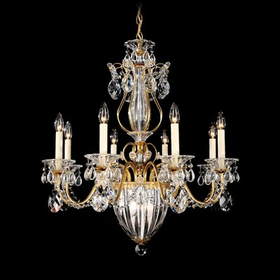 Bagatelle 8-Light Candle-Style Chandelier Finish: Antique Silver, Crystal: Heritage Handcut Crystal Clear