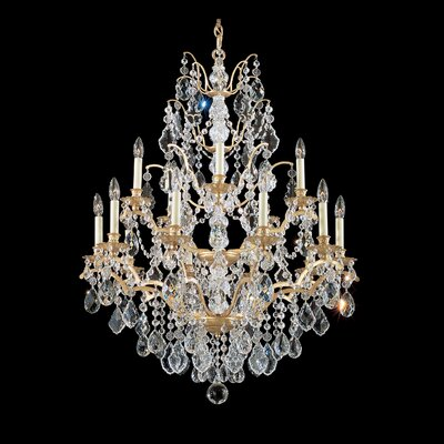 Bordeaux 15-Light Candle-Style Chandelier Finish: French Gold, Crystal Color: Legacy Clear