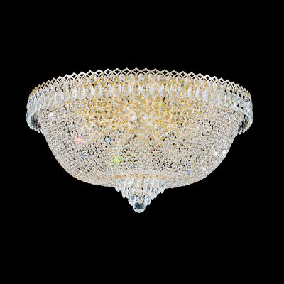 Camelot Flush Mount Size: 15.5 H x 28 W x 28 D, Finish: Rich Aurelia Gold