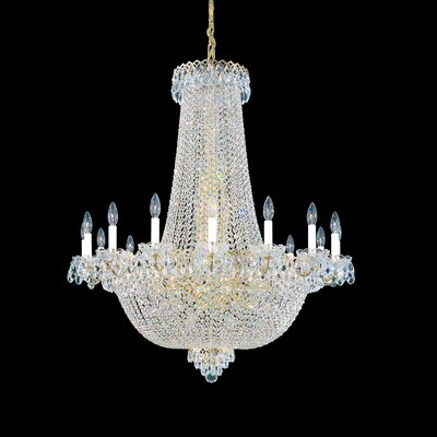 Image of Camelot 47 Light Chandelier Color: Black pearl