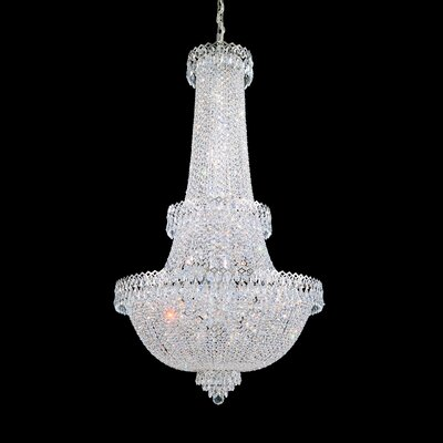 Image of Camelot Foyer Pendant Size: 49.5 H x 28 W x 28 D Color: Polished Silver