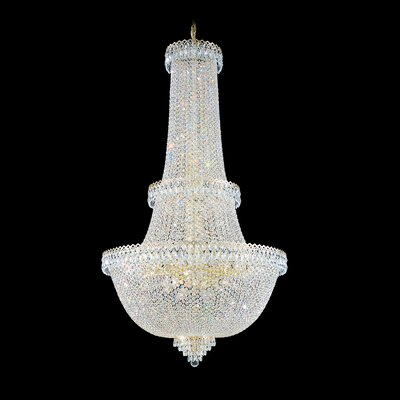 Image of Camelot Foyer Pendant Size: 60 H x 34 W x 34 D Color: Polished Silver