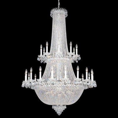 Image of Camelot 84 Light Chandelier Color: Black pearl