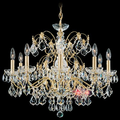 Century 9-Light Crystal Chandelier Finish: French Gold