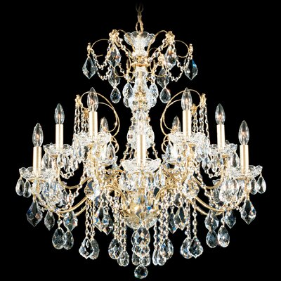Image of Century 12 Light Chandelier with Handcut Crystal