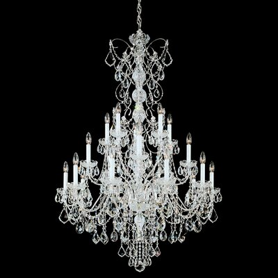 Century 20-Light Candle-Style Chandelier Finish: Antique Silver