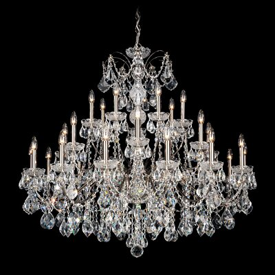 Century 28-Light Candle-Style Chandelier Color: Aurelia, Crystal Color: Heritage Handcut Crystal Clear