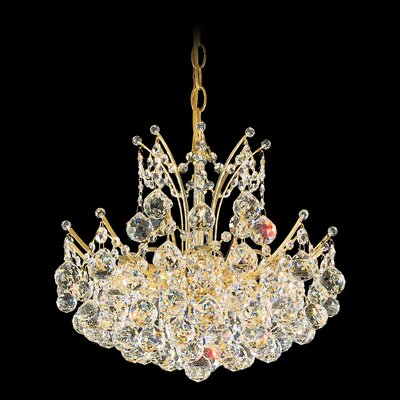 Image of Contessa Foyer Pendant Size / Color / Crystal Color: 16 H x 17 W x 17 D / Gold / Strass Clear