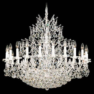 Image of Contessa 36 Light Chandelier Color: Black Pearl Crystal Color: Strass Clear