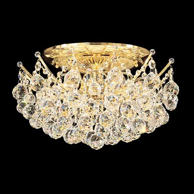 Image of Contessa 12 Light Semi Flush Mount Finish: Gold Crystal Grade: Strass Clear