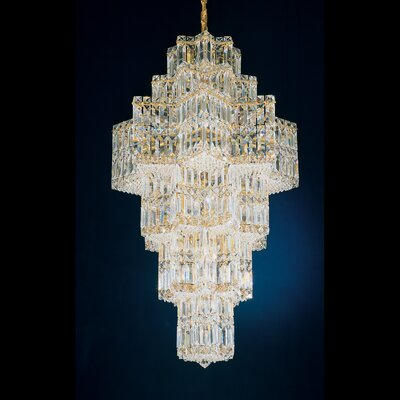 Image of Equinoxe 35 Light Chandelier Color: Silver