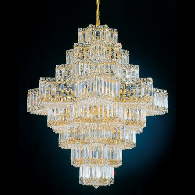 Equinoxe 45 Light Chandelier Color: Gold