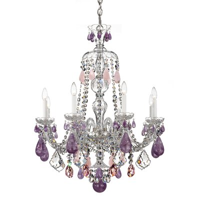 Hamilton 8-Light Candle-Style Chandelier Color / Crystal Color: Silver / Rock Clear