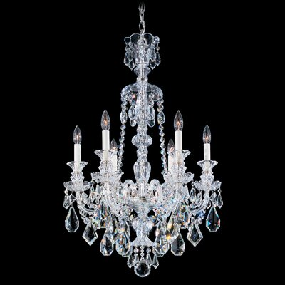 Hamilton 6-Light Candle-Style Chandelier Color / Crystal Color: Jet Black / Black
