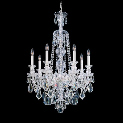 Hamilton 7-Light Candle-Style Chandelier Color / Crystal Color: Jet Black / Black