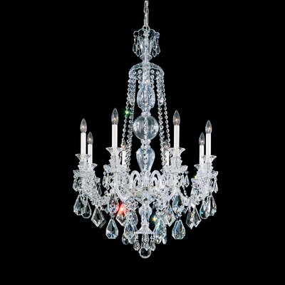 Hamilton 8-Light Candle-Style Chandelier Color / Crystal Color: Silver / Clear