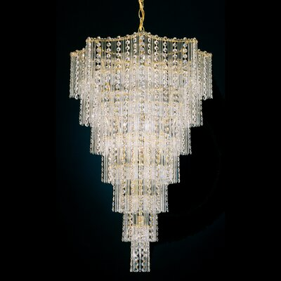 Image of Jubilee Foyer Pendant Size: 32 H x 20.5 W x 20.5 D Color: Gold