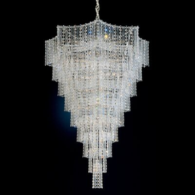 Jubilee Foyer Pendant Size: 40 H x 27.5 W x 27.5 D Color: Silver