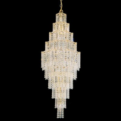 Image of Jubilee Foyer Pendant Size: 44.5 H x 17 W x 17 D Color: Gold