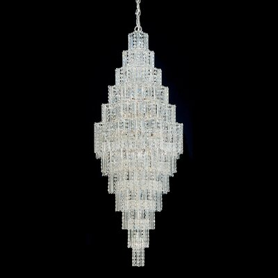Jubilee Foyer Pendant Size: 70 H x 28 W x 28 D Color: Silver Image