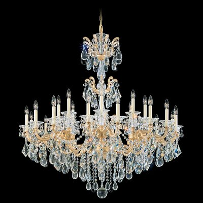 La Scala 6-Light Candle-Style Chandelier Finish / Crystal Color: Parchment Gold / Handcut Clear