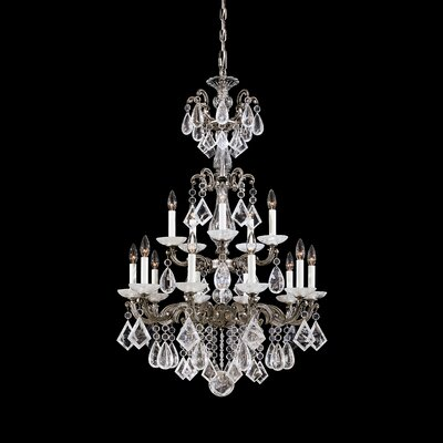 La Scala 15-Light Candle-Style Chandelier Finish: French Gold