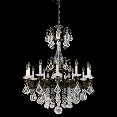 La Scala 12-Light Candle-Style Chandelier Finish: French Gold