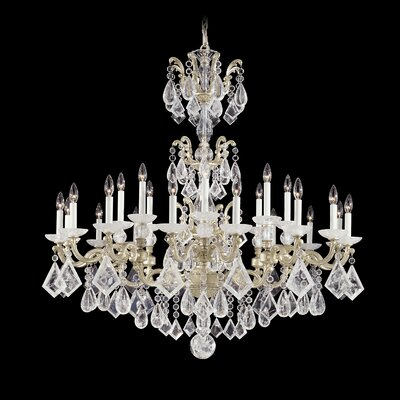 La Scala 24-Light Candle-Style Chandelier Finish: Heirloom Gold