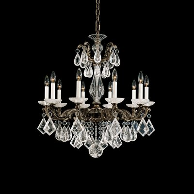 La Scala 10-Light Candle-Style Chandelier Finish: Parchment Gold
