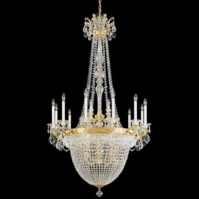 La Scala Empire 22-Light Candle-Style Chandelier
