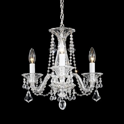 Allegro 3-Light Crystal Chandelier Crystal Color: Clear