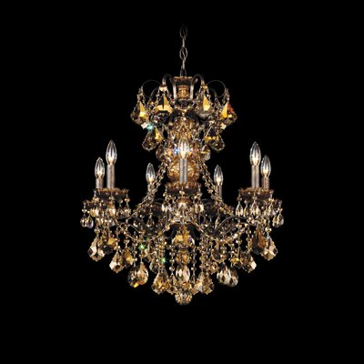 New Orleans 7-Light Candle-Style Chandelier Finish: Aurelia, Crystal Type: Swarovski Elements Golden Teak