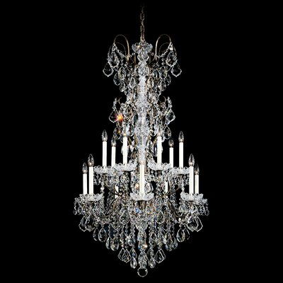 New Orleans 14-Light Candle-Style Chandelier Finish: Heirloom Gold, Crystal Type: Heritage Clear